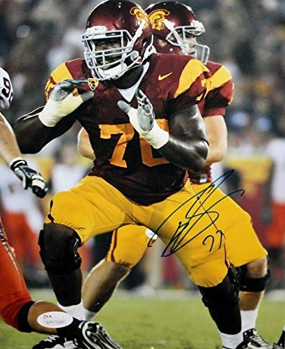 f9c784275 Tyron Smith Autographed Photo - 8x10 Maroon Jersey Witness Authen ...