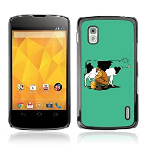 Designer Depo Hard Protection Case for LG Nexus 4 E960 / Milking Cow