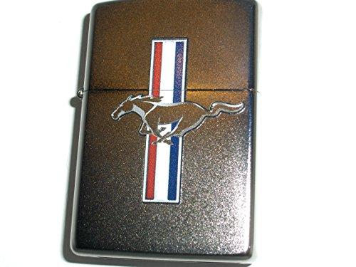 (Zippo Ford Mustang Satin Chrome Lighter)