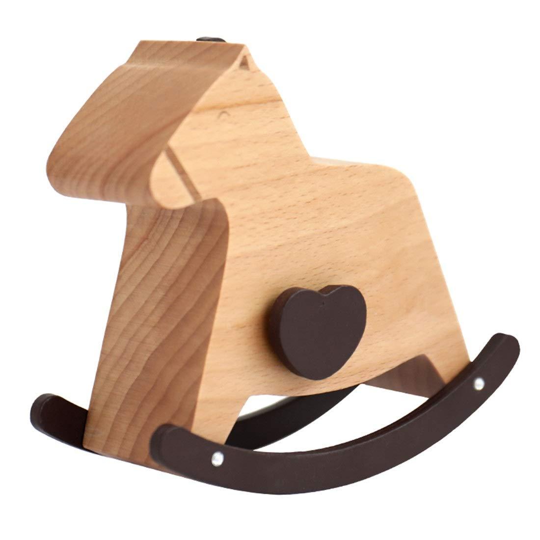 SHENYUAN-Cajas de música Creative Wooden Pony Music Box ...