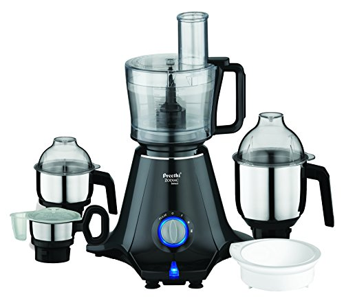 Preethi Zodiac Select MG-227 750-Watt Mixer Grinder with 4 Jars (Black)