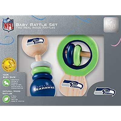 NFL Seattle Seahawks Baby Rattle Set - 2 Pack: Sports & Outdoors