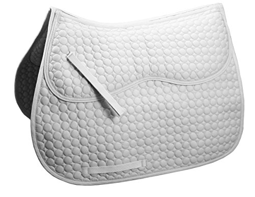Derby Originals Extra Comfort All Purpose English Saddle Pad with Removable Memory Foam (Wintec Dressage Saddle)