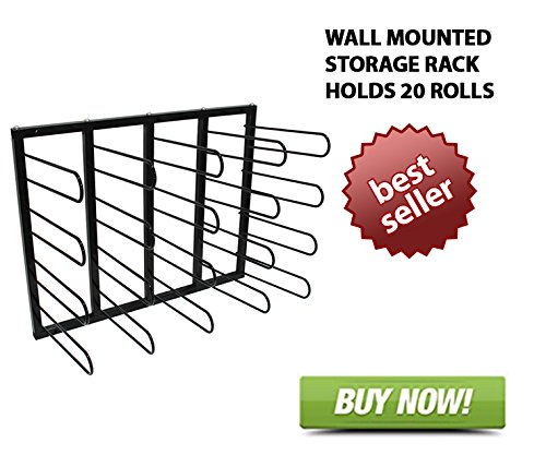 Vinyl Roll Wall Mount Storage Rack -20 Rolls by Signworld America