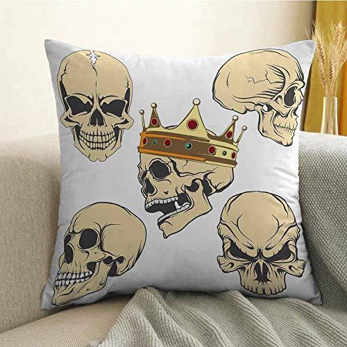 FreeKite Skull Printed Custom Pillowcase Skulls Different Expressions