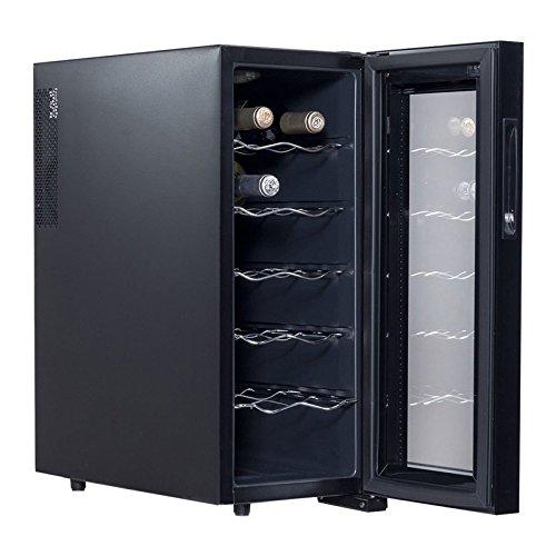 12 Bottle Stainless Steel Slim-Fit Freestanding Built-In Wine Cooler- Stainless Steel 110v (#020346)
