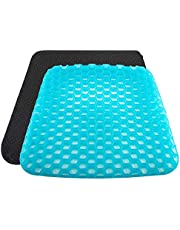 Kaigital Gel Seat Cushion 2020 The Latest Honeycomb Design Cushion Seat Cushion with Non-Slip Cover Super Breathable Gel Cushion for Back Painr Home Office Chair Car