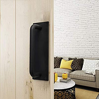 Kanqingqing Manijas de Puerta Estilo de la Industria Hierro Granero Puerta Tirador Manija Puerta corredera Herrajes (Color : Black, Size : 250mm): Amazon.es: Hogar