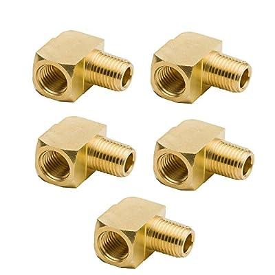 "2pcs Brass Fitting, 90 Degree Barstock Street Elbow, 1/8"" NPT Male Pipe, 1/8"" NPT Female Pipe"