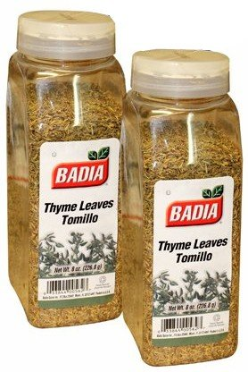 Badia Thyme Leaves. Tomillo 8 oz . Large container. Pack of 2