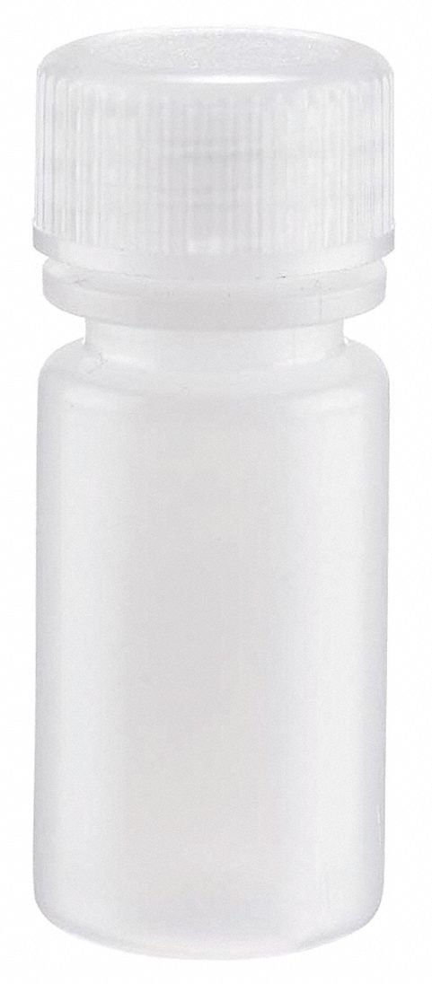 Narrow Mouth, Round, HDPE, 4mL, 72 PK