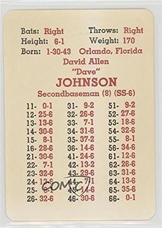 Amazoncom Dave Johnson Baseball Card 1967 Apba Baseball 1966
