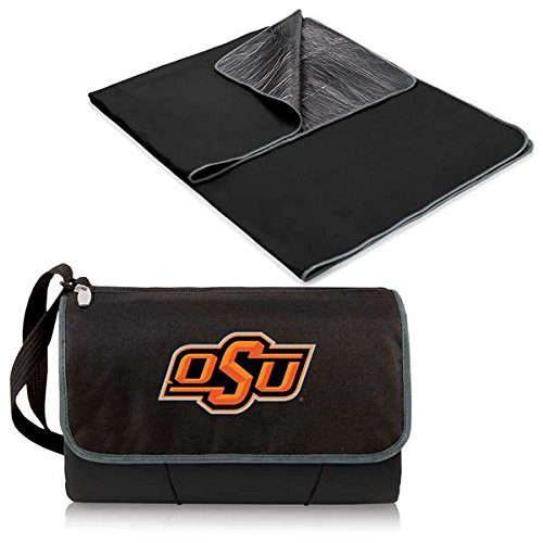 NCAA Oklahoma State Cowboys Outdoor Picnic Blanket Tote, Black