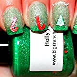 Christmas Color Changing Thermal Nail Polish - FREE SHIPPING - Holly Jolly - Green/Clear