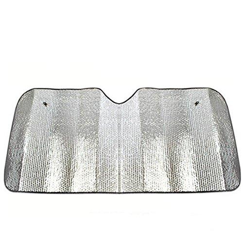 Heat Shield Windshield Sunshade (Qingsun Car Windshield Sunshade-Heat Shield Sun Visor-UV Ray Protector Sunshade-Fits Most Universal Vehicle Vans Minivan SUV and Truck)