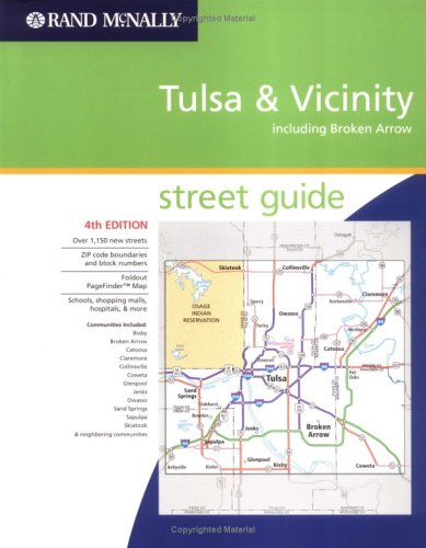 Rand Mcnally Atlas Tulsa Broken Arrow Oklahoma Rand Mcnally And