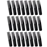 Favorict (24 Pack) 5'' Pocket Hair Comb Beard & Mustache Combs for Men's Hair Beard Mustache and Sideburns (A)