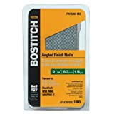 BOSTITCH FN1540-1M 2-1/2-Inch 15-Gauge FN Style Angled Finish Nails, 1000-Quantity