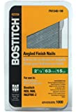 BOSTITCH FN1540-1M 2-1/2-Inch 15-Gauge FN Style Angled Finish Nails, 1000-Qty.