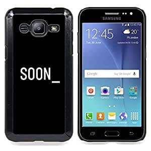 - Soon Cyber Computer Black White Text - - Snap-On Rugged Hard Cover Case Funny HouseFOR Samsung Galaxy J2