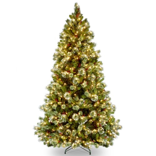 National Tree 7.5 Foot Wintry Pine Medium Tree with 650 Clear Lights, Hinged ()