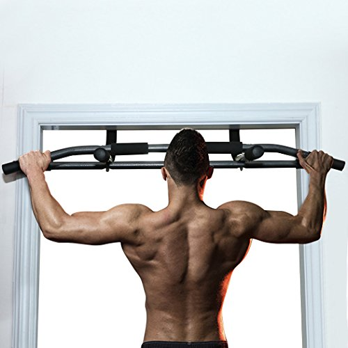 Binxin Multi Grip Chin Up/Pull Up Bar Heavy Duty Stamina Doorway Trainer Door Gym Plus Black
