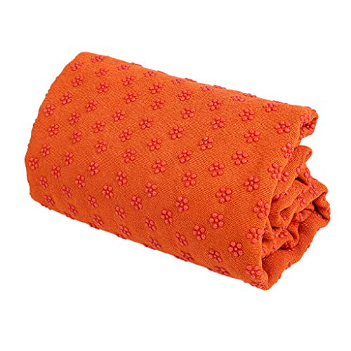 ❤️Jonerytime❤️Yoga Mat Sport Fitness Travel Exercise Cover Towel Blanket Non-Slip Pilate (Orange)]()