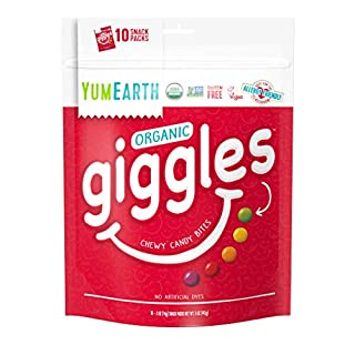 Giggles Organic Chewy Candy, Fruit Flavored Snack Packs