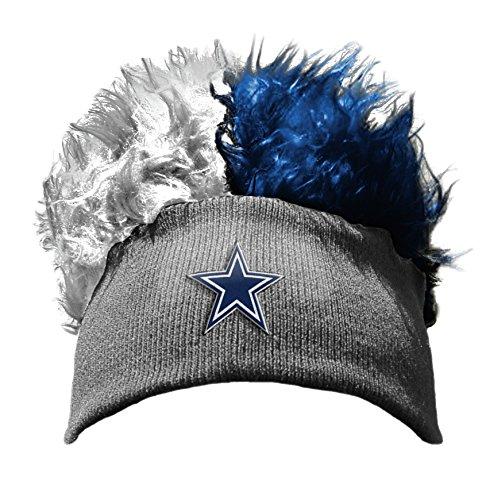 Flair Hair Hat (Officially Licensed NFL Dallas Cowboys Flair Hair Beanie Cap)