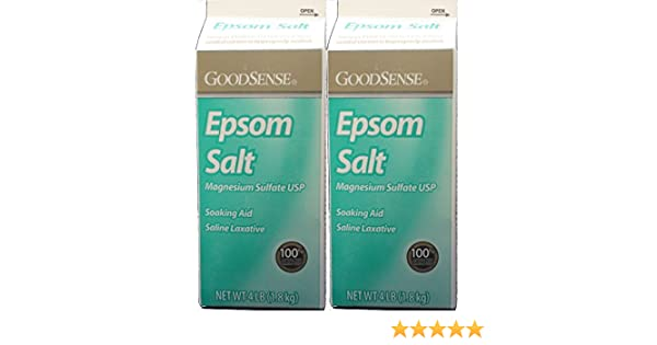 Amazon.com : Epsom Salt Magnesium Sulfate Soaking Solution, 4 Lb. per Box Pack of 2 Total 8 LB. : Beauty