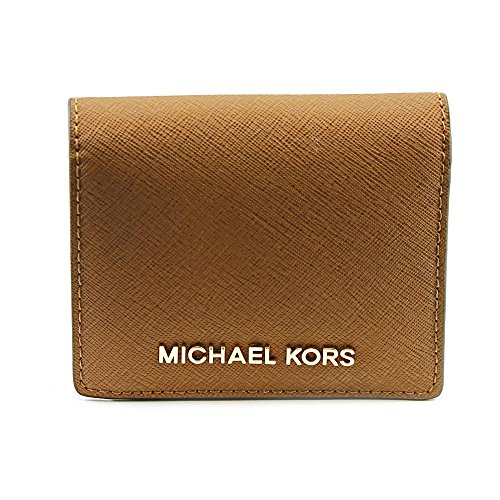 MICHAEL Michael Kors Women's Flap Card Holder Wallet, Luggage, One Size