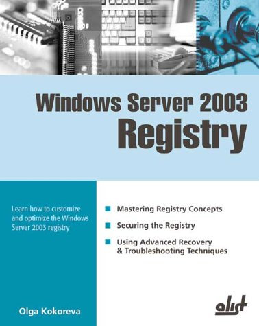 Windows Server 2003 Registry by Brand: A-List Publishing