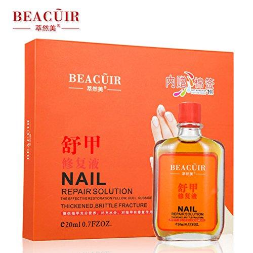 (BEACUIR Nail Liqud Repair Solution Effective Nutrition Regenerating Fluid Yellowness Mild Cleansing 20ml)