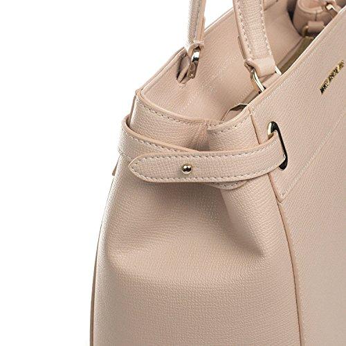 Jeans sintético para asas Trussardi crema de blanco cuero de Bolso mujer 6Snxwqg