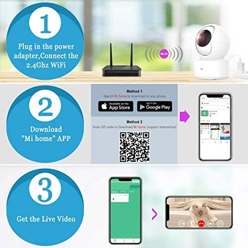 1080P Wireless Smart Home Indoor Baby IP Security Camera IMILAB,2.4Ghz WiFi Surveillance Dome Camera Pet Nanny Monitor with Two-Way Audio,HD Night Vision,Pan/Tilt,Remote View Support Max 256GB SD… 51RZTvAGW8L