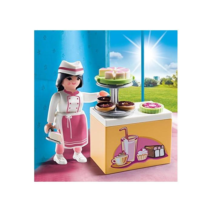 51RZU%2BkN18L Figura pastelera Con accesorios Ideal para completar tus mundos PLAYMOBIL