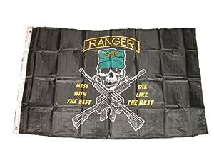 Ranger lío con el mejor morir como el resto negro 3'x5' poliéster bandera de EE. UU. Para