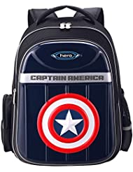 YOURNELO Childrens Light-reflecting Marvel Heroes Rucksack School Backpack Bookbag