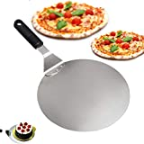 Pizza Peel, Vievogue Paddle Round Cake Shovel Baking Tools Grip-Stainless steel blade-Handle deal for baking on Pizza Cookie Stone Oven Grill