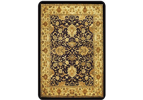 Meridian Decorative Hard Floor Chairmat - 36'' x 48'' Brown Multi Finish Dimensions: 36''W x 48''D x 0.125''H Weight: 11 lbs by Deflecto