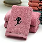 10pcs/lot! Black Cat Pattern Bamboo Fiber Towel Thicken Cotton Towel for Bath &Beach & Gym Use 3474cm