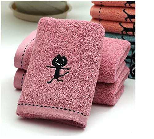 10pcs/lot! Black Cat Pattern Bamboo Fiber Towel Thicken Cotton Towel for Bath &Beach & Gym Use 3474cm by TT&QQ (Image #5)