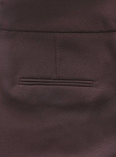 oodji Ultra Mujer Pantalones Clásicos con Pinzas Marrón (3900N)