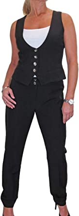 Washable Smart Tailored Office Trousers Black NEW Size 8-20