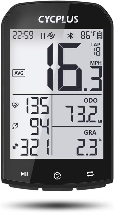 CYCPLUS GPS Fahrradcomputer kompatible mit Strava 2,9 Zoll LCD mit Hintergrundbeleuchtung wasserdichte Fahrradtacho und Kilometerz/ähler ANT+ Drahtloser Radcomputer