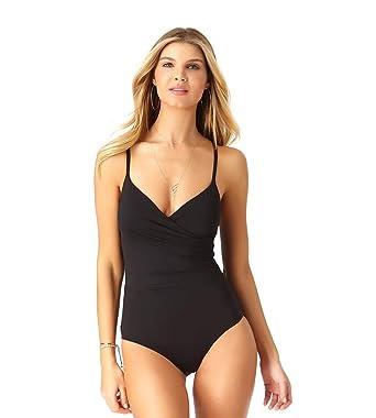 3282d530d3 Anne Cole Women s Wrap Lingerie Maillot One Piece Swimsuit at Amazon ...
