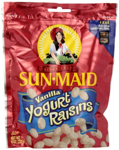 Sun Maid Vanilla Yogurt Raisins, 8-Ounce Bag (Pack of 6)