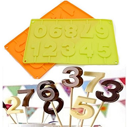 Inn Diary Number 0-9 3d Silicone Mold - Candy Mold,Cube Shell Molds,Cake Baking Mold