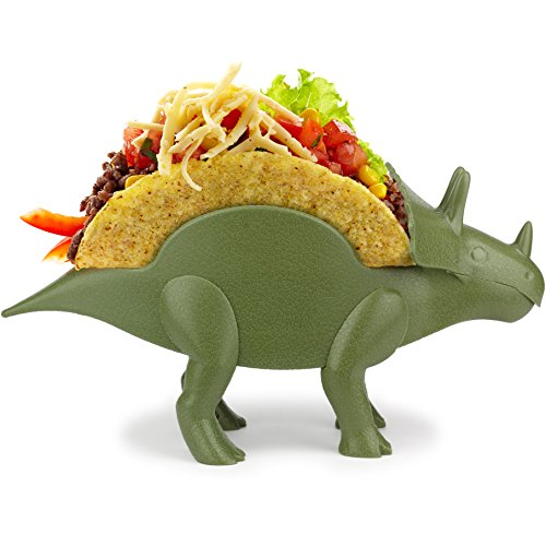 KidsFunwares TriceraTACO Taco Holder - The Ultimate Prehistoric Taco Stand for Jurassic Taco Tuesdays and Dinosaur Parties - Holds 2 Tacos - The Perfect Gift for Kids and Kidults that Love Dinosaurs ()