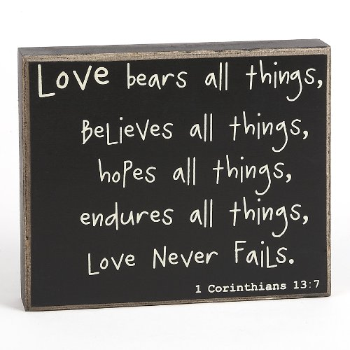 Collins Love Never Fails Box Sign